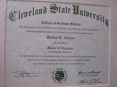 my masters degree