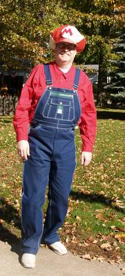 me dressed as mario for halloween